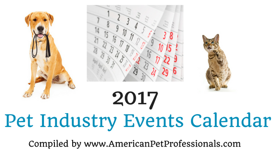 2017 Pet Industry Events Calendar!