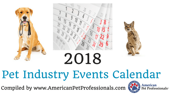 2018 Pet Industry Events Calendar!