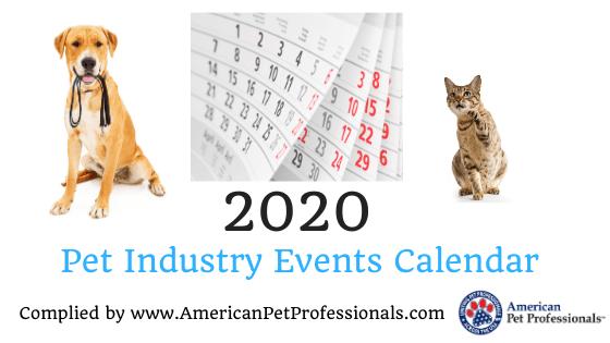 2020 Pet Industry Events Calendar!