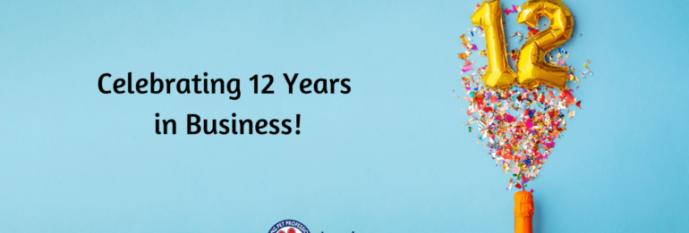 Celebrating 12 years in business!